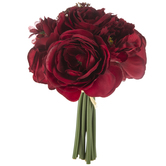 Red Peony, Rose & Ranunculus Bouquet